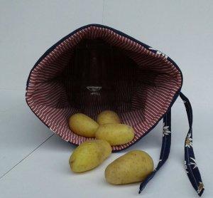 Kartoffelwärmer / Gschwellti-Beutel mit Band Edelweissblumen