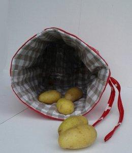 Kartoffelwärmer / Gschwellti-Beutel mit Band Schweiz