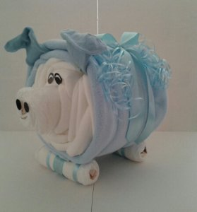 Windelgeschenk Glücksschwein