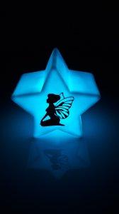 Stern Nachtlicht LED mit Fee