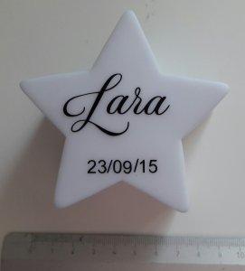personalisiertes Stern Nachtlicht LED mit Name