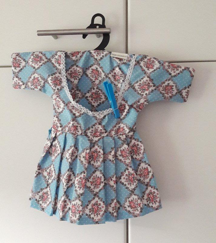 Wäscheklammer Beutel - Kleidchen hellblau