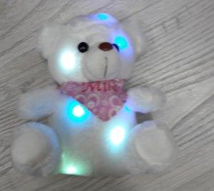 Nachtlicht Plüsch Bär mit Namenshalstuch