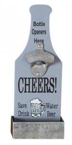 cooler Wand Flaschenöffner mit Auffangschale