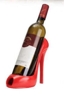Flaschenhalter roter High Heel
