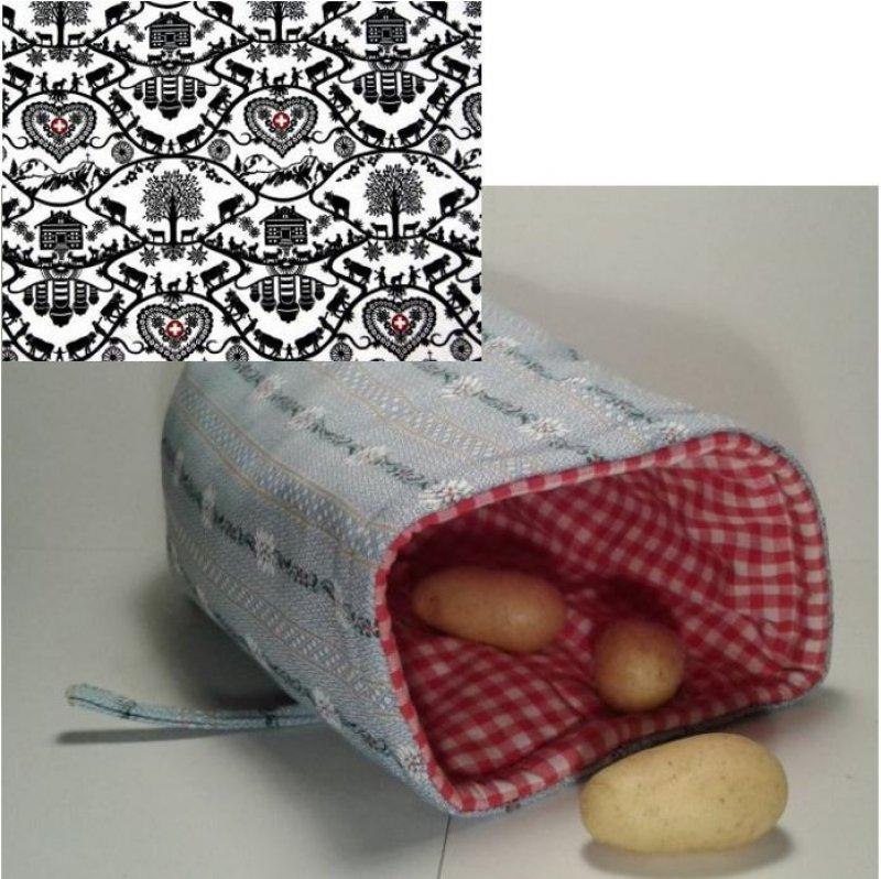 Kartoffelwärmer / Gschwellti-Beutel Scherenschnitt mit Band