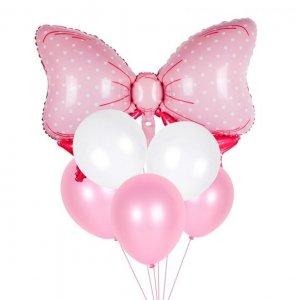 Ballon Dekoration rosa Schleife