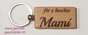 Schlüsselanhänger Holz för z beschte Mami / Muttertag