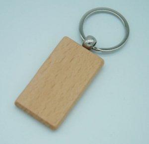 Holz Schlüsselanhänger rechteckig Rohling