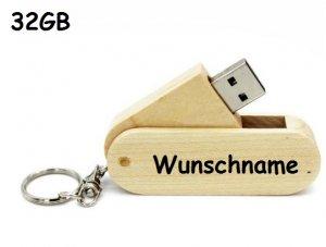 Holz USB-Stick 32GB mit Wunschname